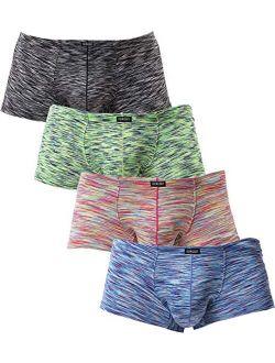 Men's Stretch Boxer Briefs Underwear Sexy Low Rise Men Pouch Shorts