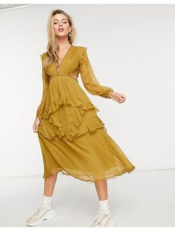 mini dress with long sleeves and circle trim