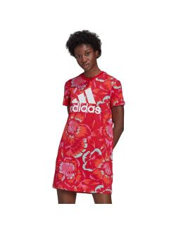 S Adidas Floral Print T-shirt Dress