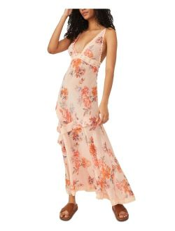 Stay Awhile Floral-Print Maxi Dress
