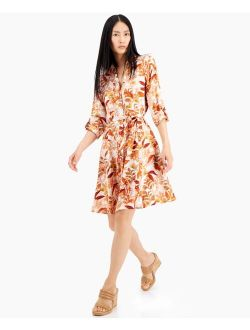 INC International Concepts Floral-Print Shirtdress, Created for Macy's