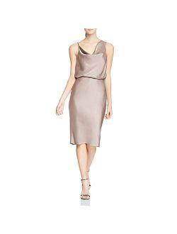 Women's Cowl Satin Dress