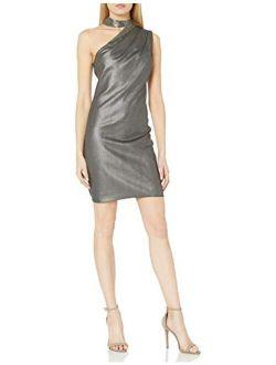 Women's Embellished Neck Dress