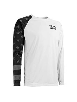 S A Co. Men's Long Sleeve Shirt, UPF 50+ Sun Protection, Lightweight, Moisture Wicking