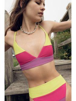 Beach Riot Riza Sunset Colorblock Bikini Top