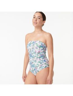 Eco ruched bandeau one-piece in English garden