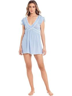 Woven Ruffle Dress Cover-Up