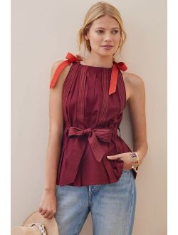 Conditions Apply Pleated Tie-Strap Tank