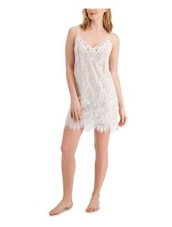 INC International Concepts Ivory Lace Chemise Nightgown, Created for Macy's