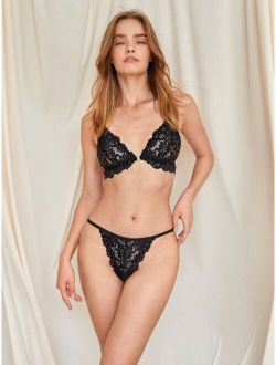 Luvlette Floral Lace Thong