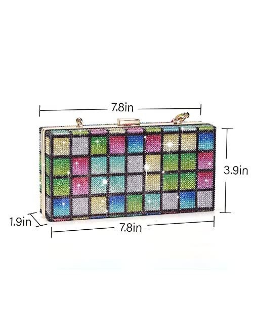 Clutch Purse for Women Crystal Evening Bags and Clutches Rhinestone Evening Handbags