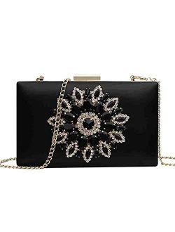 Enruiya clutch purses for women evening bling bag with rhinestone formal shoulder bag for wedding prom party