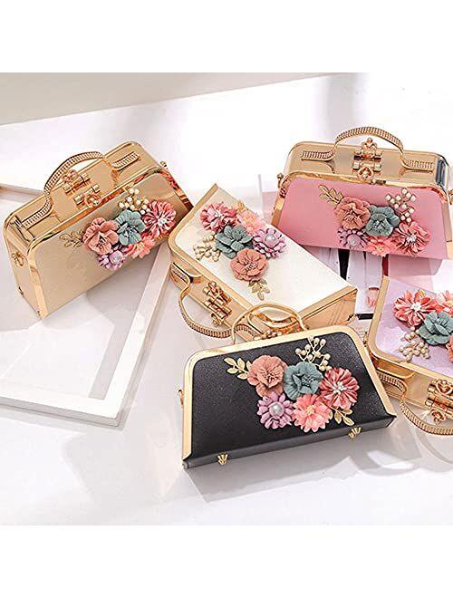 Women's Evening Handbags Floral Clutch Purses for Women Fancy Wedding Handbag Party Bridal Clutch Shoulder Bag