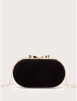 Velvet Box Clutch Bag