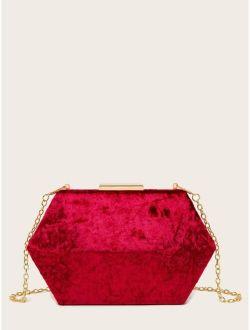 Minimalist Velvet Box Bag