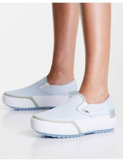 Slip-On Stacked pastel sneakers in blue