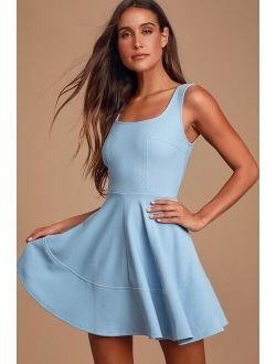 Home Before Daylight Periwinkle Dress