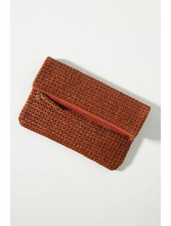 Clare V. Leather Rattan Clutch