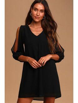 Shifting Dears Black Long Sleeve Dress