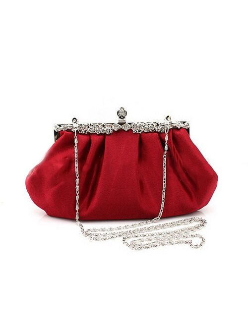 Fashion Design Long full Dress Solid Color red Evening Bags Women Wedding Clutches Purses Handbags Lady Party Tote Purse WY32