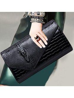 Crocodile Pattern women Chain bag Designer handbag cluth faux Leather Evening Clutches party Shoulder Bag bolsas