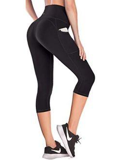 Ewedoos Lift Leggings with Pockets for Women High Waisted Yoga Pants for Women Workout Capri Leggings for Women