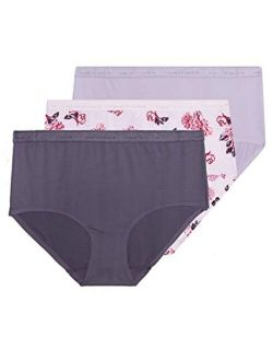 Womens No Show Underwear Microfiber Invisible Edge Panties Pack Of 3