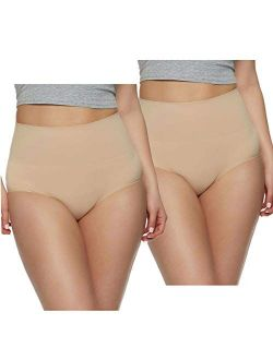 Ladies' Seamless Shaping Brief, 2-pack (xl, Nude)