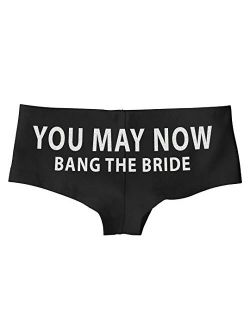 You May Now Bang The Bride Funny SexyBoy Short Panty Gift for Honeymoon Wedding Night Lingerie