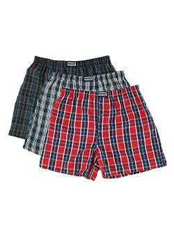 Knocker Men's 6 Plaid Boxer Shorts Underwear