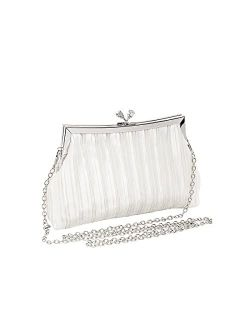 Zlybola Women Small Satin Evening Bags Clutch Purses Bag for Wedding Party Formal Dressy Handbag