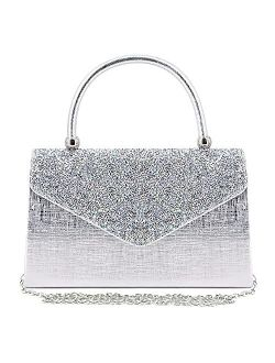 Naimo Bling Shiny Rhinestone Wedding Evening Party Clutch Handbag Purse