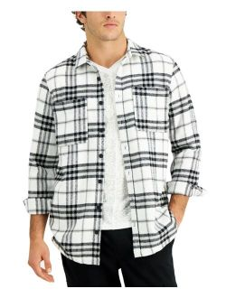 INC International Concepts Men's Regular-Fit Yarn-Dyed Plaid Shirt, Created for Macy's