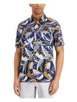 Men's Leaf-Print Shirt, Created for Macy's