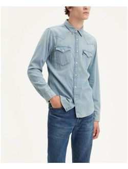 Men's Classic Clean Standard Fit Denim Western Shirt