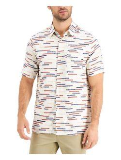 Men's Regular-Fit Broken Stripe Shirt, Created for Macy's