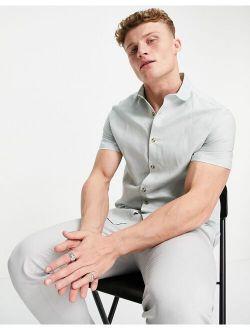 wedding linen shirt in mint