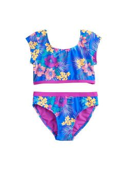 Girls 7-16 SO® Surf Island Floral Print Front Bow Bikini and Bottoms Swimsuit Set