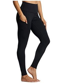 ZUTY Fleece Lined Leggings Women Winter Thermal Insulated Leggings with Pockets High Waisted Workout Yoga Pants
