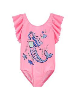 Girls 4-16 Carter's Mermaid One-Piece Swimsuit