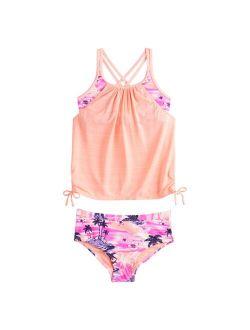 Girls 7-16 ZeroXposur Avalon Tankini Top & Bottoms Swimsuit Set