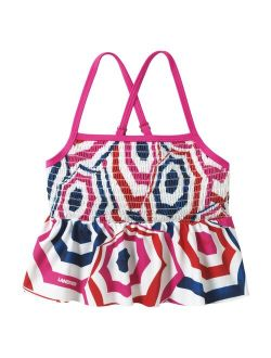 Lands' End Smocked Tankini Swimsuit Top