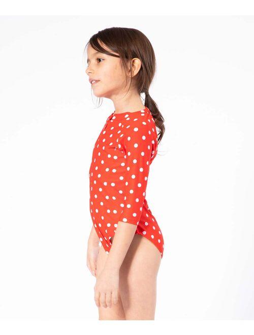 Marina West Red & White Polka Dot One-Piece Rashguard - Toddler & Girls