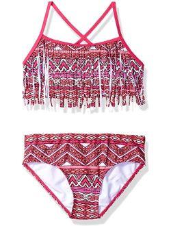 Kelly Beach Sport Fringe 2-piece Bikini Swimsuit