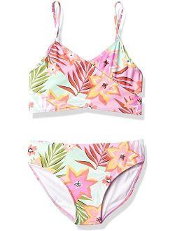 Coral Reef Beach Sport Wrap Around Bikini 2-piece Swimsuit
