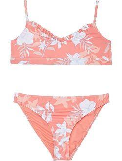 Bloom Paradise Bralette Set Swimsuit (Big Kids)