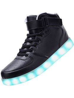Odema Unisex LED Shoes High Top Light Up Sneakers for Women Men Girls Boys Size4.5-13