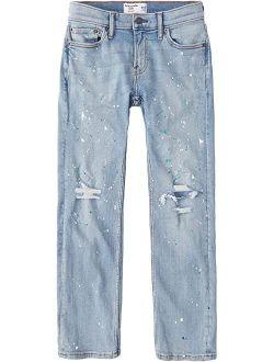 abercrombie kids Straight Leg Paint Splatter in Light Blue (Little Kids/Big Kids)