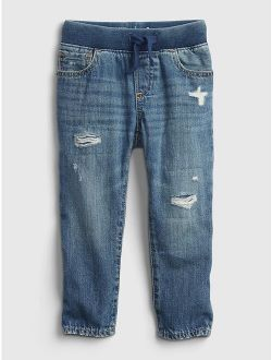 Toddler Pull-On Slim Jeans with Washwell™