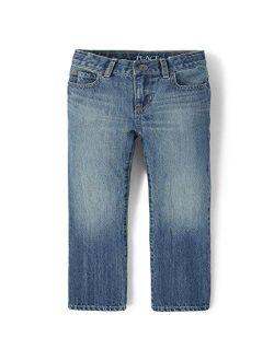 Boys Basic Bootcut Jeans, Pierce Wash, 4